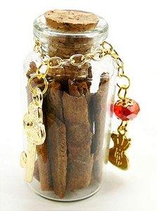 Talismã Vidro de Canela com Amuleto