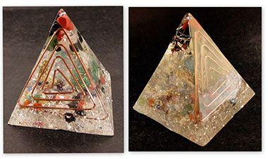 Orgonite Pirâmide 6x6,5
