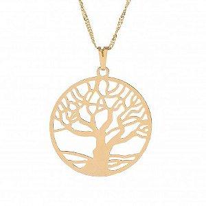 Gargantilha dourada 20mm- Árvore da Vida