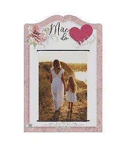Porta Retrato elástico- Mãe do coração rosa