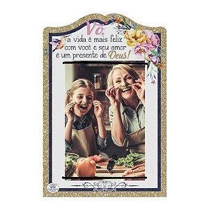 Porta Retrato elástico- Vó a vida é mais feliz...