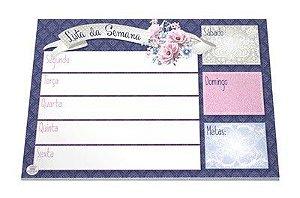 Planner Lista da Semana - Roxo floral