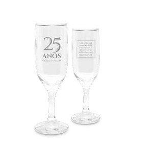 Jogo Taças de Champagne - Bodas de PRATA