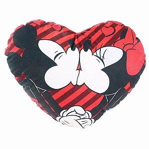 Almofada coração-  Minnie e Mickey