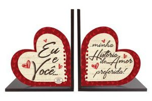 Aparadores de Livros em madeira - Eu e você