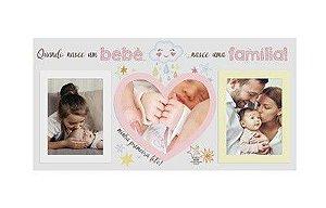Porta Retrato rosa - Quando Nasce um Bebê