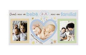 Porta Retrato azul - Quando Nasce um Bebê