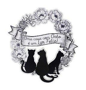 Guirlanda - Uma casa com Gato é um Lar Feliz