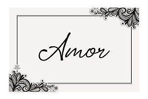 Quadro com aplique arabesco- Amor