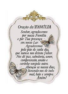 Móbile de Parede com aplique -Oração da Família