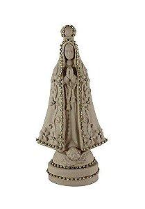 Nossa Senhora Aparecida com Pérolas - Marrom
