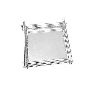 Bandeja Inox  Wire 10 x 10cm de vidro Espelhado