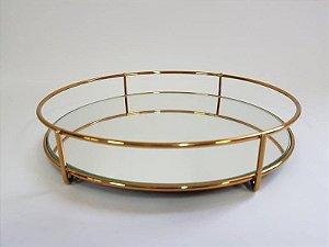 Bandeja Fence redonda 20cm - Golden
