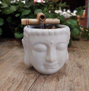 Fonte cerâmica cabeça Buda
