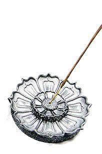 Incensário Flor de Lótus- Prata