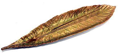 Incensário folha ouro