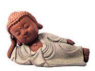 Buda Deitado - Bege