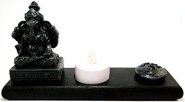 Porta Velas e Incensário - Ganesha