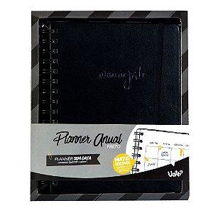 Agenda Planner Anual - Preto