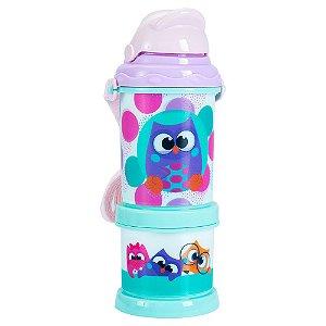 Squeeze Canudo pop com Potinhos - Bubu e as Corujinhas
