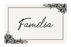 Quadro com aplique arabesco- Família