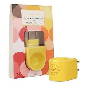 Aromatizador Elétrico Porcelana Via Aroma Colors - Amarelo