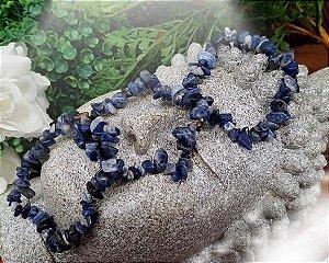 Pulseira de Pedras Cascalhos - Sodalita