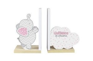 Aparador de Livros Elefantinho - Rosa