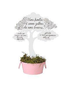 Enfeite de Árvore com balde - Família é como galhos