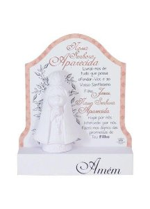 Nossa Senhora Aparecida baby com Oração - Rosa