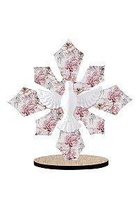 Enfeite de Mesa Recorte floral - Espirito Santo