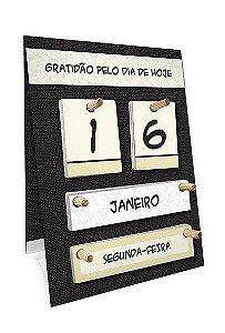 Calendário permanente de mesa - Gratidão pelo dia