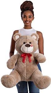 Urso de Pelúcia Beijinho G 80cm - CORES DIVERSAS