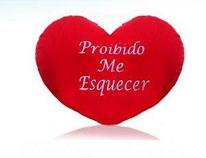 Almofada Coração P - Proibido me esquecer