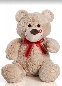 Urso de Pelúcia Beijinho M 60cm - Beige