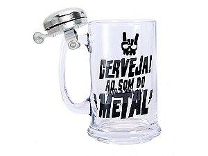 Caneco com sineta prata - Cerveja ao som do ROCK