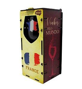 Taça vinho com Caixa + abridor - França