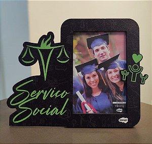 Porta retrato recorte  MDF 10x15 - Serviço Social