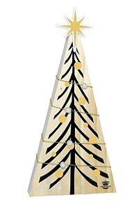 Enfeite de mesa Pinheiro com aplique estrela e perolas