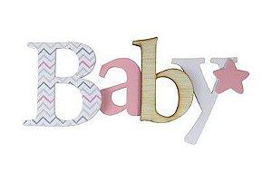 Palavra para parede ROSA - Baby