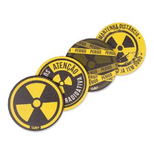 kit 4 Porta Copos - Radioativo