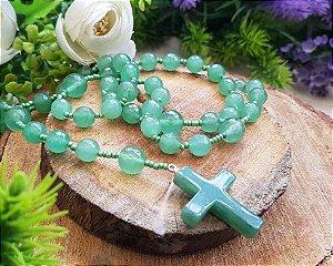 Rosário de Pedras - Quartzo Verde
