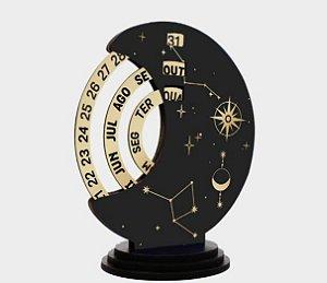Calendário permanente de mesa MDF - Constelação