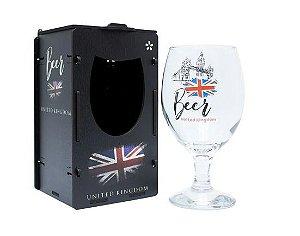 Taça Oro para Cerveja 400ml com caixa MDF - Reino Unido