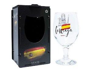 Taça Oro para Cerveja 400ml com caixa MDF - Espanha