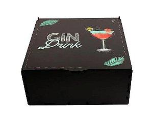 Kit Gin na caixa MDF com Especiarias - Preto