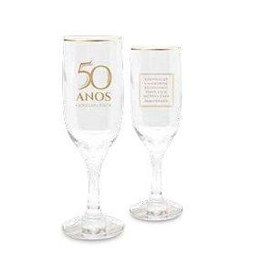 Jogo Taças de Champagne - Bodas de OURO