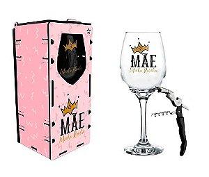 Taça vinho com Caixa + abridor - Mãe Rainha