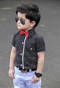 Camisa Poa preta