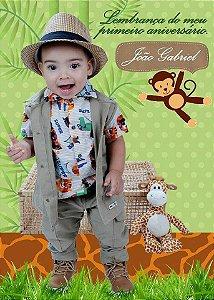 Colete e Calça Safari em sarja